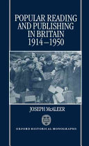 Popular Reading and Publishing in Britain  1914 1950