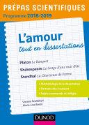 Pdf L'amour tout en dissertations - Prépas scientifiques - Programme 2018-2019 Telecharger