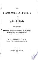 The Nicomachean Ethics of Aristotel