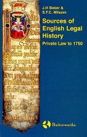 Cover of Sources of English Legal History