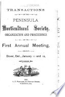 Transactions of Th Annual Session of the Peninsula Horticultural Society Book