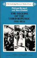 The Decline of the Third Republic, 1914-1938