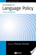 An Introduction To Language Policy Book PDF