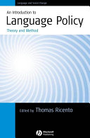 An Introduction to Language Policy Pdf/ePub eBook