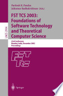 FST TCS 2003  Foundations of Software Technology and Theoretical Computer Science Book