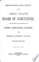 Annual Report of the Ohio State Board of Agriculture Book