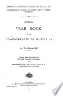 Official Year Book Of The Commonwealth Of Australia No 37 1946 And 1947