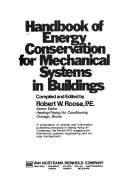 Handbook of Energy Conservation for Mechanical Systems in Buildings Book
