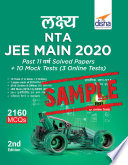Free Sample Lakshya Nta Jee Main 2020 Past 11 Varsh Solved Papers 10 Mock Tests 3 Online Tests 2nd Edition