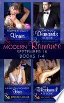 Modern Romance September 2016 Books 1-4