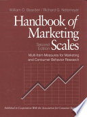"""""""Handbook of Marketing Scales: Multi-Item Measures for Marketing and Consumer Behavior Research"""" by William O. Bearden, Richard G. Netemeyer"""