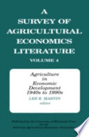 A Survey of Agricultural Economics Literature