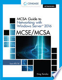 Cover of MCSA Guide to Networking with Windows Server 2016, Exam 70-741