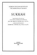 Hebrew-English Edition of the Babylonian Talmud: Sukkah, Moʻed Ḳaṭan