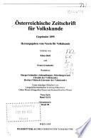 Österreichische Zeitschrift für Volkskunde