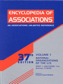 Encyclopedia Of Associations V 1 Pt 1