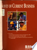 Survey of Current Business Book