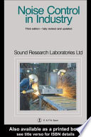 Noise Control in Industry  Third Edition