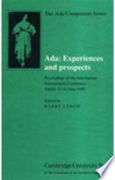 Ada Experiences And Prospects Book PDF