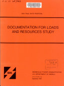 Documentation for Loads and Resources Study for the 1983 Wholesale Power Rate Filing