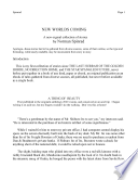 New World s Coming Book PDF