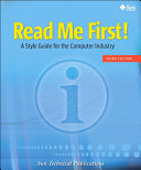 Read Me First A Style Guide For The Computer Industry [Pdf/ePub] eBook