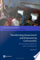 Transforming Government And Empowering Communities