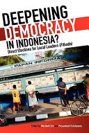 Deepening Democracy in Indonesia