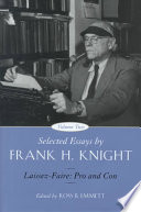 Selected Essays by Frank H  Knight  Volume 2