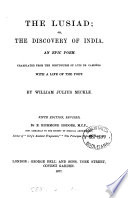 The Lusiad Or The Discovery Of India Tr By W J Mickle