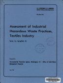 Assessment of industrial hazardous waste practices