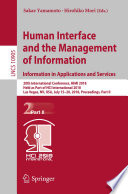 Human Interface and the Management of Information  Information in Applications and Services