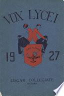 Vox Lycei Fall 1926 1927