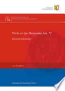 Findbuch des Bestandes
