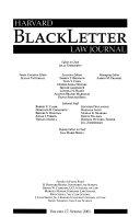 Harvard Blackletter Law Journal Book