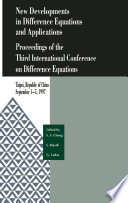 New Developments in Difference Equations and Applications