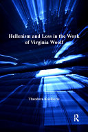 Hellenism and Loss in the Work of Virginia Woolf Pdf/ePub eBook