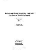 American Environmental Leaders  M Z Book PDF