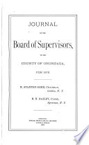 Journal of the Board of Supervisors of the County of Onondaga Book
