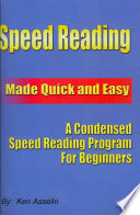Speed Reading Made Quick and Easy Pdf/ePub eBook