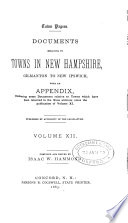 Documents Relationg To Towns In New Hampshire