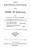 Pdf The Critical Review, Or, Annals of Literature