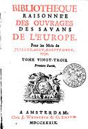 Bibliotheque raisonnée des ouvrages des savans de l'Europe