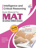 Intelligence and Critical Reasoning Study Material  for MAT and other MBA entrance exams