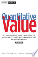 Quantitative Value, + Web Site