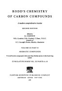 Rodd s chemistry of carbon compounds Book