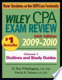 Wiley CPA Examination Review, Outlines and Study Guides