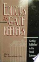 Editors As Gatekeepers Book PDF