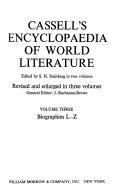 Cassell s Encyclopaedia of World Literature  Biographies L Z