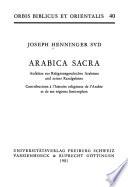 Arabica Sacra
